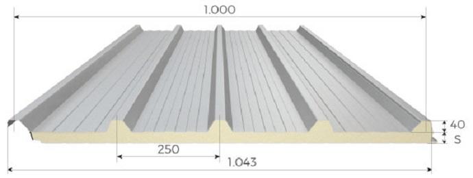 Panel sandwich cubierta suministros rojas for Panel aislante termico